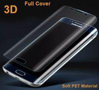 Galaxy S8 için Not 8 Artı S7 S6 kenar Tam Kapak Kavisli 3D Ön Ekran Koruyucu Yumuşak PET TPU şeffaf Film Kapak