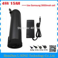 48 В 15AH литий-ионный аккумулятор 750 Вт 48 В 15AH Бутылка аккумуляторная батарея использовать Samsung 3000 мАч 20А BMS с 54,6 В 2A Зарядное устройство