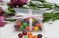 Commercio all'ingrosso 200 pz 9x7x2.4cm Anti-Scratch Clear Scrubs Pillow Bomboniera scatola regalo scatola per baby shower wedding bomboniere scatole forniture