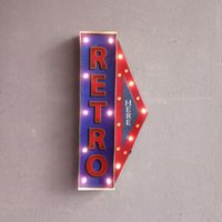 Retro Here Vintage Neon Sign Decorative painting LED metal s...
