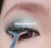 1000 unids Herramientas de Belleza Multifuncional Pestañas Falsas Inoxidable Pinzas de Clip Auxiliar cuidado de los ojos