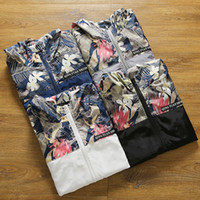 Men Plus Size M-4XL Floral Bomber Jacket Hip Hop Slim Fit Flores Piloto Bomber Jacket Coat Casacos com capuz para homem