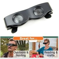 Wholesale-Free Shipping Magnifier Binoculars Portable Glasses Style Telescope For Fishing Hiking Concert