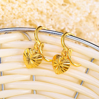 24K Gold Plated Hoop Earrings New Design Party For Women Cla...