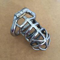 Maschio Dispositivo castità per uomini di cazzo Cage Anello Ulteriori Cock Ring in acciaio inox di piccola Chastity Cage Anelli adulti BDSM Toys