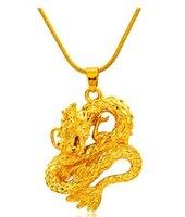 chaming projeto dos homens do dragão do estilo de ouro cheias de pingente de colar dkj