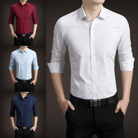 2018 Hot Sales Wholesales Colorful Long Sleeves Groom Shirts...