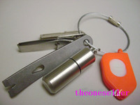 Free Shipping DHL Top quality Stainless Steel Wire Keychain Cable Key Ring for Outdoor Hiking 1200pcs