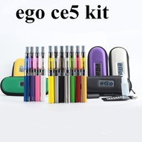 E Cigarette Vape Pen Ce5 Ego T Vaporisateur Simple Zipper Case Kit cig 1.6ml Ce5 Atomizer cartomizer Cigarette Électronique pour ego ce4
