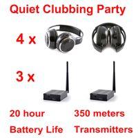 500m distance Silencieux Disco 4 Casque Pliant 3 Canaux - Casque RF Sans Fil Pour iPod MP3 DJ Musique