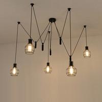 Luzes pingente de aranha conduziu a luz da aranha lâmpada moderna único polia pingente de luz pendurado lâmpada de teto lâmpadas pendentes contemporâneas corda pendurada
