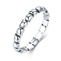 Original design 925 Sterling Silver Cute Cat Staplable Finger Ring för Kvinnor Bröllopsdjur S925 Silver Smycken SCR047
