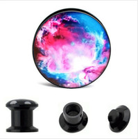 Acrylic The Universe Logo Internal Thread Ear Gauge Plug And...