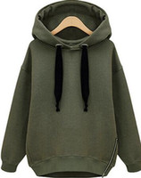 news sales cheap Arm Green New Winter Autumn Loose Hooded Ja...