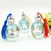 Cherry Print Perfume Bottle with Roller Lids 12ml Portable T...