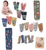 2016 niños calcetines de dibujos animados bebés niñas niñas niños calentadores de piernas a rayas calentadores de pierna bebé calcetines de la rodilla alta pierna calentador algodón libre ups envío