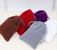 Black Velvet sacchetti anelli collana orecchini Stud Bracciali Bangle gioielli regalo sacchetti può stampare logo DIY Guest favori titolare