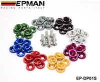 EPMAN Fender Unterlegscheiben Auto Washer Lisence Plattenschrauben-Kits für Honda Civic EK EP AP DC2 DC5 für Password JDM EP-DP01S