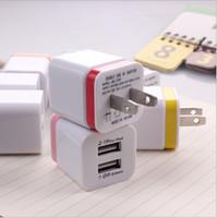 100 pcs Metal Dual USB parede EUA plug 2.1A AC Power Adapter Plug 2 portas para o iphone 8 X samsung galaxy nota LG