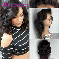 Short Human Brazilian Hair Wig Full Bangs Glueless Curly Ful...