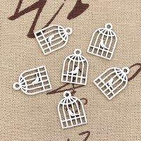 300pcs Charms bird birdgege 16 * 11mm Antique, aleación de zinc en forma de colgante, plata tibetana vintage, bricolaje para collar de pulsera
