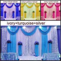 3M * 6M Hochzeit Hintergrund Kulisse Swag Party Vorhang Feierliche Bühne Performance Hintergrund Drape Silber Pailletten Hochzeit Favoriten Lieferanten