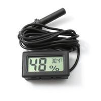 Проводной цифровой ЖК-гигрометр влажности метр тестер Аквариум термометр с зондом Бесплатная доставка