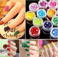Wholesale- ONE PIECE New 18 Colors Fashion Nail Decoration F...