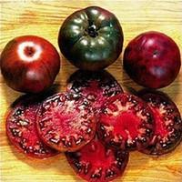 1 팩 100 종자 / 팩, 검은 크림 토마토 러시 나 가보 종자 미세 텍스처 대형 토마토 # A00251