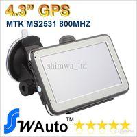 4.3 pulgadas MTK2531 V912S GPS de navegación del coche Navigator FM Transmisor Multilingual Win CE 6.0 Nuevo Mapa de varios países Envío gratuito