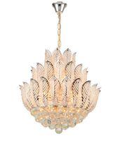 새로운 Ly Lotus Flower Gold Crystal Pendant 샹들리에 다이닝 룸 침실 호텔 샵; 크리스탈 현대 샹들리에 무료 배송 LLFA