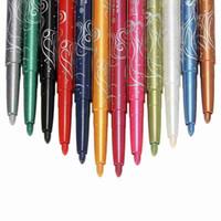 Gros-Pro Mode 12 Couleurs Sourcils Glitter Ombre EyeLiner Crayon Stylo Cosmétique Maquillage Set Kit Outils