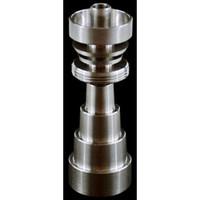 GR2 Titanyum 10/14 / 18mm erkek ve 1 GR2 Titanyum Nail Su Borusu Cam nargileler İÇİNDE Kadın Ayarlanabilir Adaptör Ti Tırnak 10mm14mm19mm 6