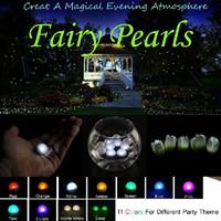 50pcs Fairy Pearls !!! La boule de flottement LED de la boussole 2CM LED de mini scintillement à piles de LED pour la fête de mariage évoque la lumière de décoration