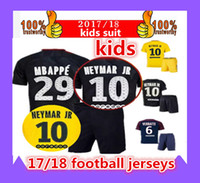 1718 kids suits Third black psg KITs neymar jr Soccer Sets h...
