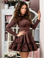 new design sheath winter and fall dress with long sleeve sli...