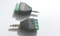 """50st 3,5 mm 1/8 """"stereo manlig plugg till AV skruvvideo AV Balun terminalanslutning"""