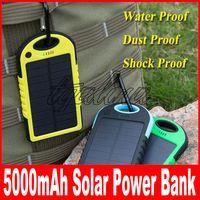 العالمي 5000mAh شاحن للطاقة الشمسية للماء بطاريات لوحة للطاقة الشمسية لشحن الهاتف الذكي PAD كاميرا كاميرا قوة البنك المحمولة USB مزدوج 50pcs