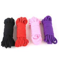 10M15M 20 M Fetichismo esclavo esclavitud cuerda alternativa Restricción CottonTied Rope productos del sexo para parejas juego adulto BDSM juego de roles 4 colores