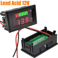 Freeshipping 10 unids Indicador de Pantalla LED Dual 12 V Probador de Capacidad de Batería de plomo-ácido Voltímetro con Protección Inversa