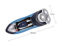 220 v más nuevos 3 cabezas flotante máquina de afeitar eléctrica Triple hoja eléctrica afeitadoras de afeitar recargables cara para hombres 3D flotante barba podadora