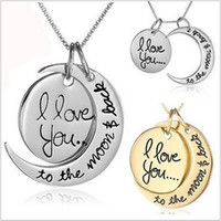 2016 Hot 2 Styles I Love You To The Moon and Back Necklace L...