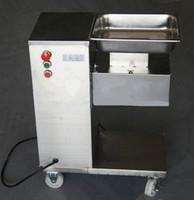 Großhandel - Vertikaleart Fleisch-Schneidemaschine, 110/220 / 240V Fleischschneider, Fleischschneidmaschine mit Riemenscheibe, 500kg / Stunde / Frisches Fleisch-Schneidemaschine