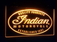 b- 122 Indian Motorcycle Service logo 7 color led Neon Light ...