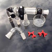 14mm NC Kit 2.0 mit individueller Verpackung sowohl Quarzspitze Titanhukas Wasser Räucherpfeife Bong Ash Catcher-Verdampfer