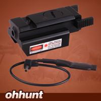 압력 스위치 20mm Picatinny 레일 장착 컴팩트 한 사냥 전술 적색 도트 레이저 시야 범위 무료 배송