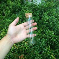 Vente en gros - 37x150mm 110 ml flacons en verre flacons bocaux avec bouchons de liège bouteilles de stockage bocaux en verre transparent bouteilles transparentes bouchons de liège 24pcs