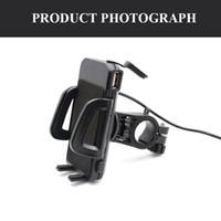 Genérico 2 en 1 soporte para teléfono móvil de motocicleta impermeable con cargador USB Interruptor de alimentación 3.3FT Cable de alimentación