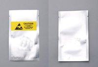 Üst ESD Çok Boyutlu Plastik Paket Çanta Antistatik Anti-statik iphone Flex Kablo Pil Ambalaj Kılıfı Sarı Etiket