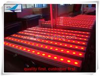 (12 pezzi / lotto) Spedizione a muro impermeabile Spedizione gratuita LED Light Light 24x3W RGB LED Floodlight, LED Bar Light DMX